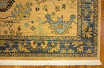 Lathan - Tapis Blue Border Gold - MODERNY