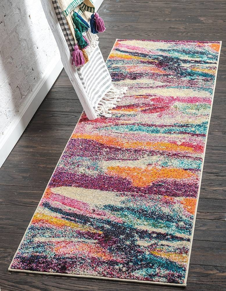 Zackery - Color Splash Faded Multi-Color Rug - MODERNY