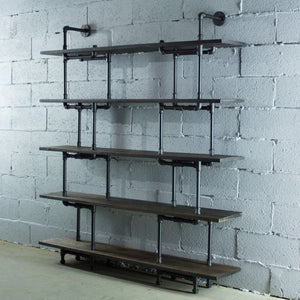Modern Industrial Five Shelf Large Bookcase - MODERNY