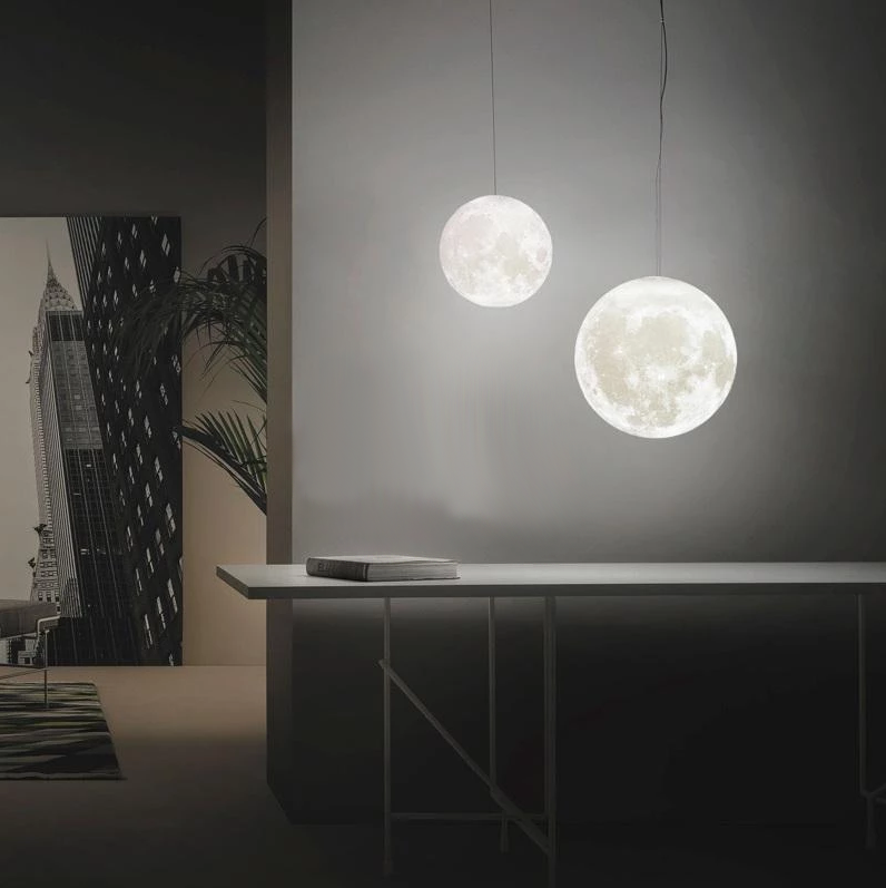 Full Moon 3D Hanging Lamp - MODERNY