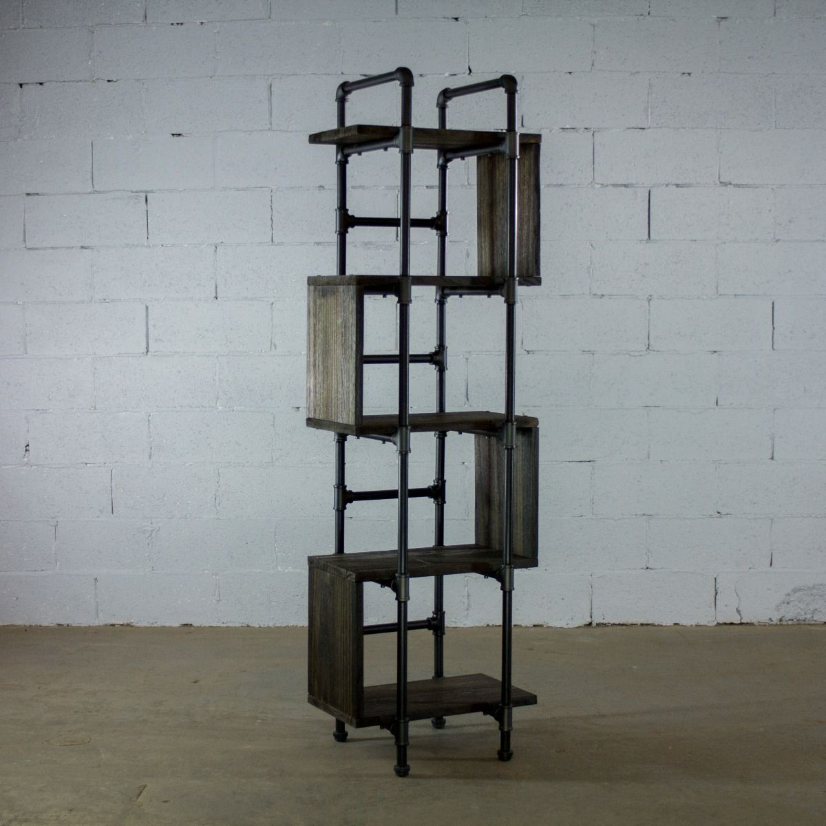 Modern Five Shelf Open Pipe Display Bookcase - MODERNY