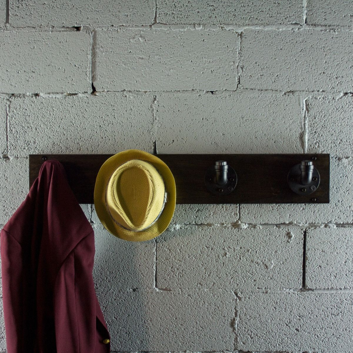 Modern Industrial Wall Mounted Four Hook Hat Rack - MODERNY