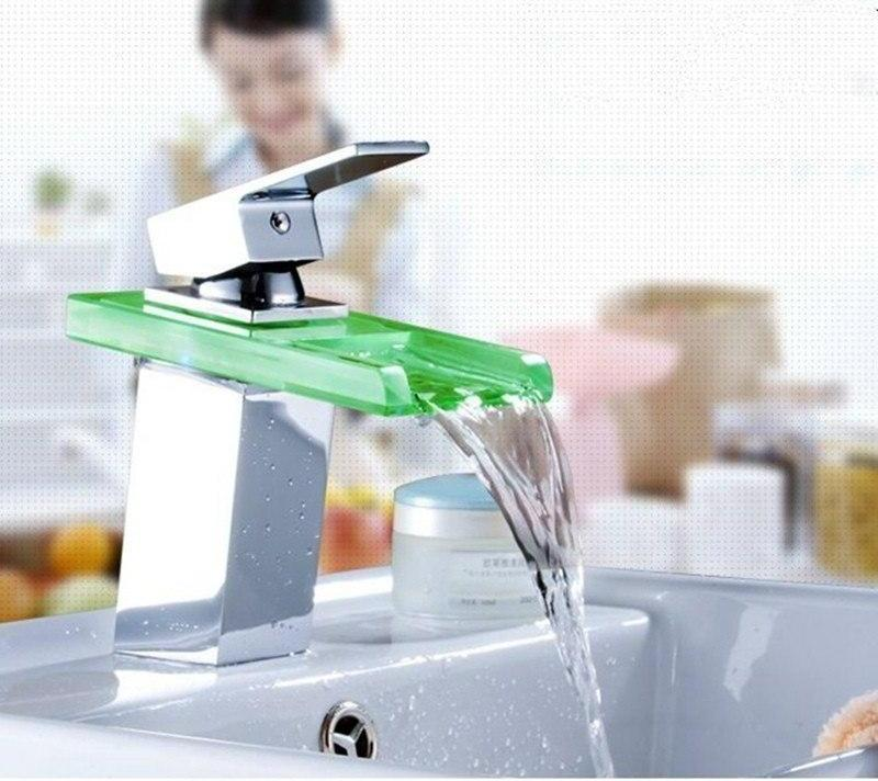 LED Temperature Color Changing Faucet - MODERNY