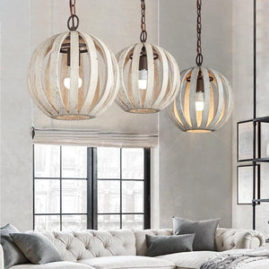 Rooney - Rustic Hanging Cage Lamp - MODERNY