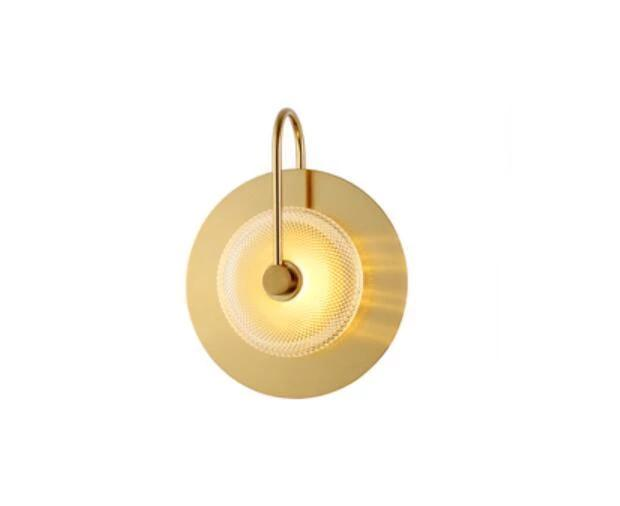 Wattle - Circular Modern Art Deco Wall Lamp - MODERNY