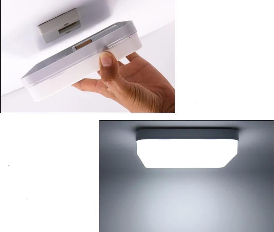 Orla - Square LED Ceiling Light - MODERNY