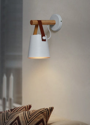 Nordic Wooden Hanging Wall Lamp - MODERNY