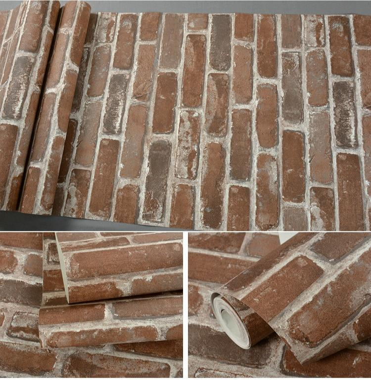 Carter - Rustic Vintage 3D Faux Brick Wallpaper Roll - MODERNY