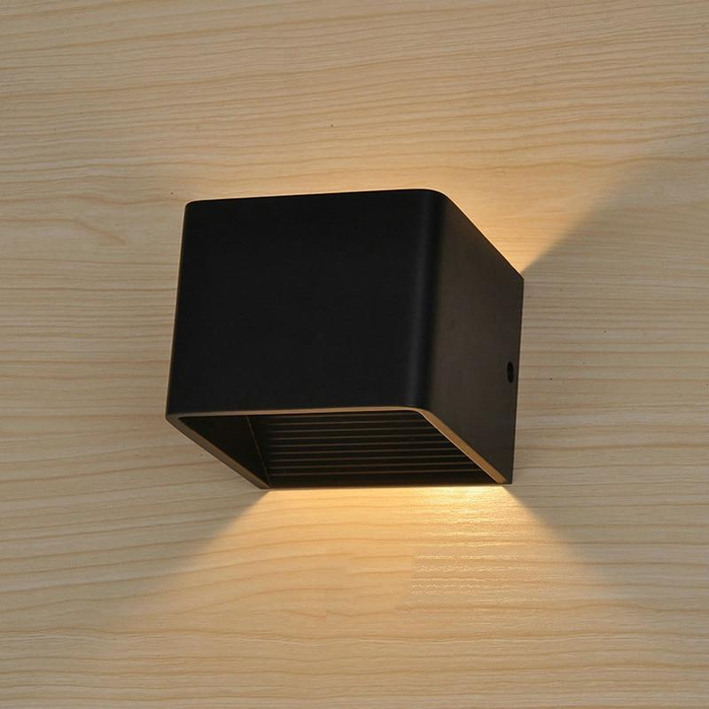 Modern LED Up Down Cube Wall Lamp - MODERNY