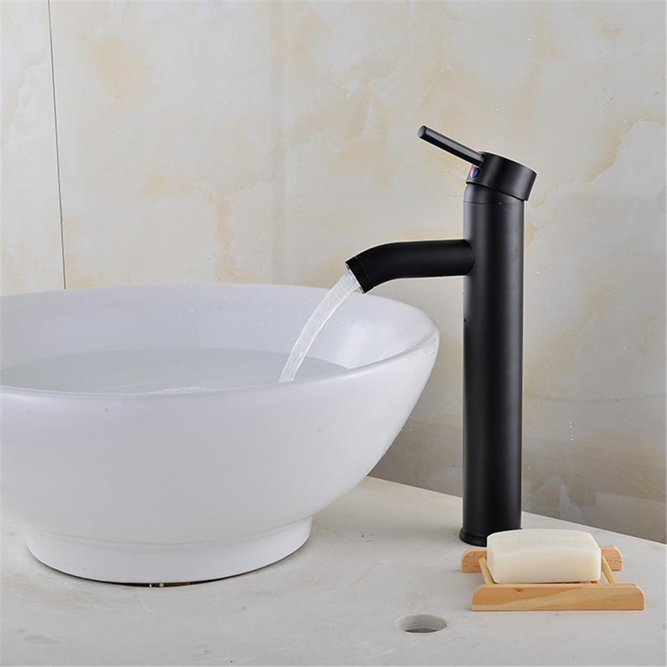 Black Matte Finish Stainless Steel Faucet - MODERNY