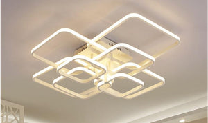 Layered Square Modern LED Chandelier - MODERNY
