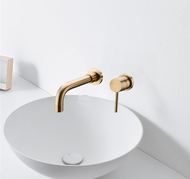Modern Brass Wall Mounted Faucet - MODERNY