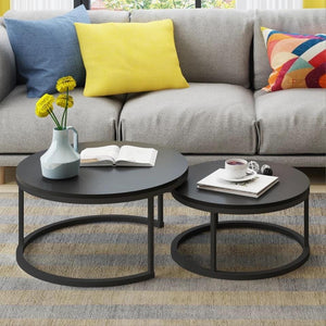 Benson - Modern Round Coffee Table Set - MODERNY