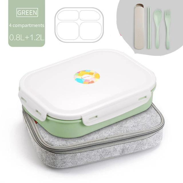 Stainless Steel Multi-Compartment Leak Proof Lunch Box - MODERNY