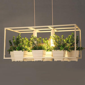 Iron Planter Chandelier - MODERNY