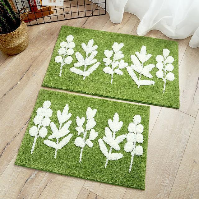 Delaney - Small Leaf Fluffy Rug - MODERNY