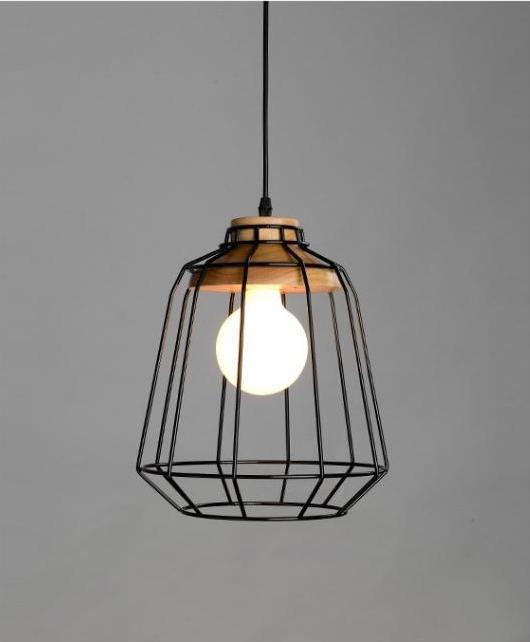 Modern Nordic Wrought Iron Hanging Cage Lamp - MODERNY