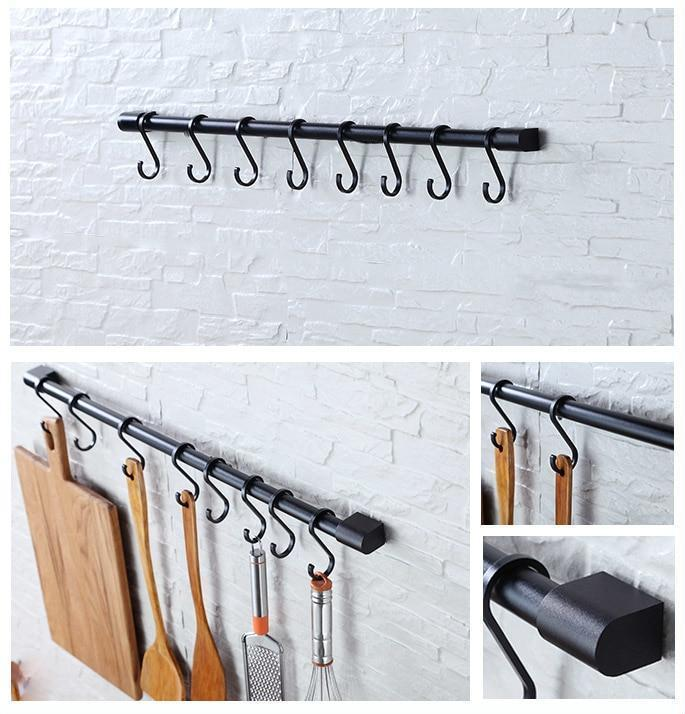 Disa - Wall Mounted Hook & Rail - MODERNY