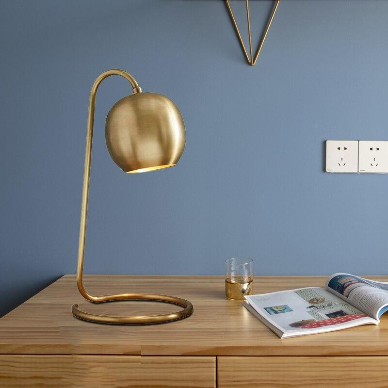 Lark - Copper Plated Retro Table Lamp - MODERNY
