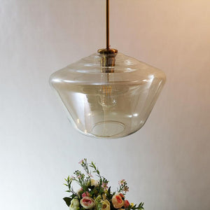 Meriall - Hanging Glass Pendant Lamp - MODERNY