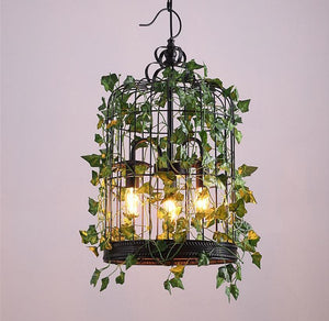 Emory - Vintage Industrial Bird Cage Hanging Lamp - MODERNY