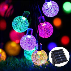ColorSol - Solar Powered LED Globe String Lights - MODERNY