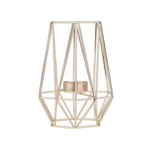 Diedra - Modern Geometric Cage Candle Holder - MODERNY