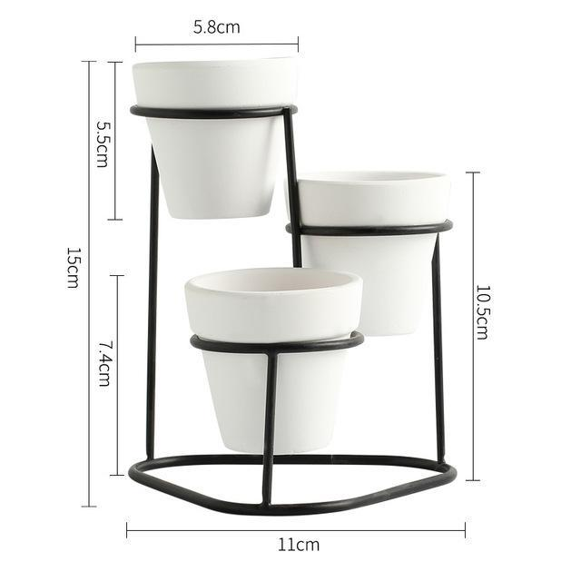 Temprince - 3 Level Planter & Stand - MODERNY