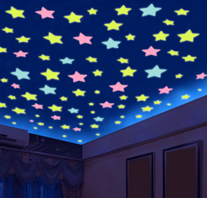 3D Glow in the Dark Stars on ceiling