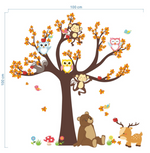Animal Tree House Wall Stickers Measurement