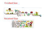 Race Cars Track Wall Stickers Measurement