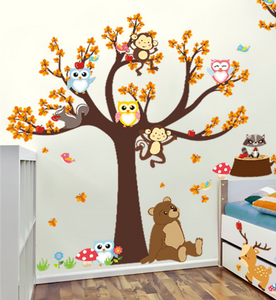 Animal Tree House Wall Stickers