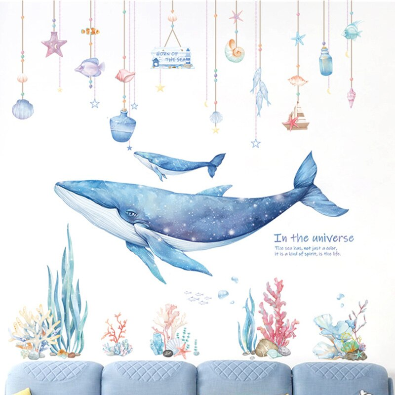 Blue Whale Wall Stickers