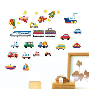 Car, boat, train & plane wall stickers
