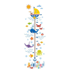 Ocean Animal Growth Chart Wall Stickers