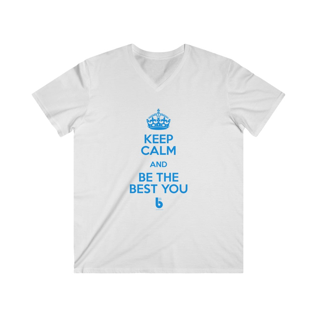 Keep Calm Men's Fitted V-Neck Short Sleeve Tee
