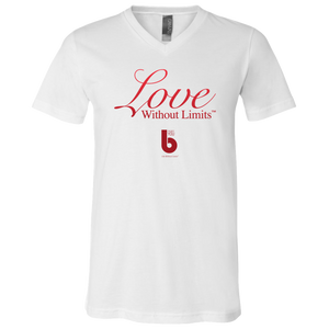 Love Without Limits Unisex Jersey SS V-Neck T-Shirt