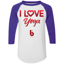 Load image into Gallery viewer, Love Yoga  Colorblock Raglan Jersey