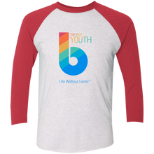 Load image into Gallery viewer, The Best Youth Tri-Blend 3/4 Sleeve Baseball Raglan T-Shirt