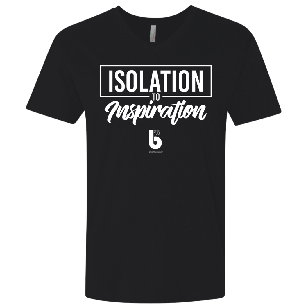 Isolation to Inspiration Men's Premium Fitted SS V-Neck