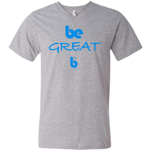 Be Great  Men's Printed V-Neck T-Shirt
