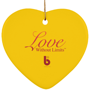 Love Without Limts SUBORNH Ceramic Heart Ornament