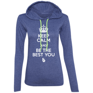 Keep Calm  Ladies' LS T-Shirt Hoodie