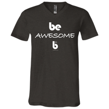 Load image into Gallery viewer, Be Awesome Unisex Jersey SS V-Neck T-Shirt