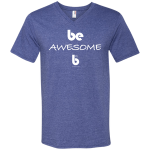 Be Awesome  Printed V-Neck T-Shirt