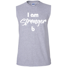 Load image into Gallery viewer, I am Stronger Men's Ultra Cotton Sleeveless T-Shirt