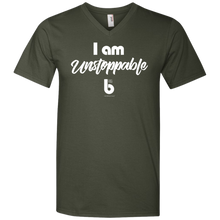 Load image into Gallery viewer, I Am Unstopabble 982 Men's Printed V-Neck T-Shirt