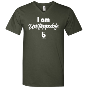 I Am Unstopabble 982 Men's Printed V-Neck T-Shirt