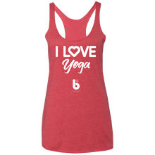 Load image into Gallery viewer, Love Yoga Ladies' Triblend Racerback Tank