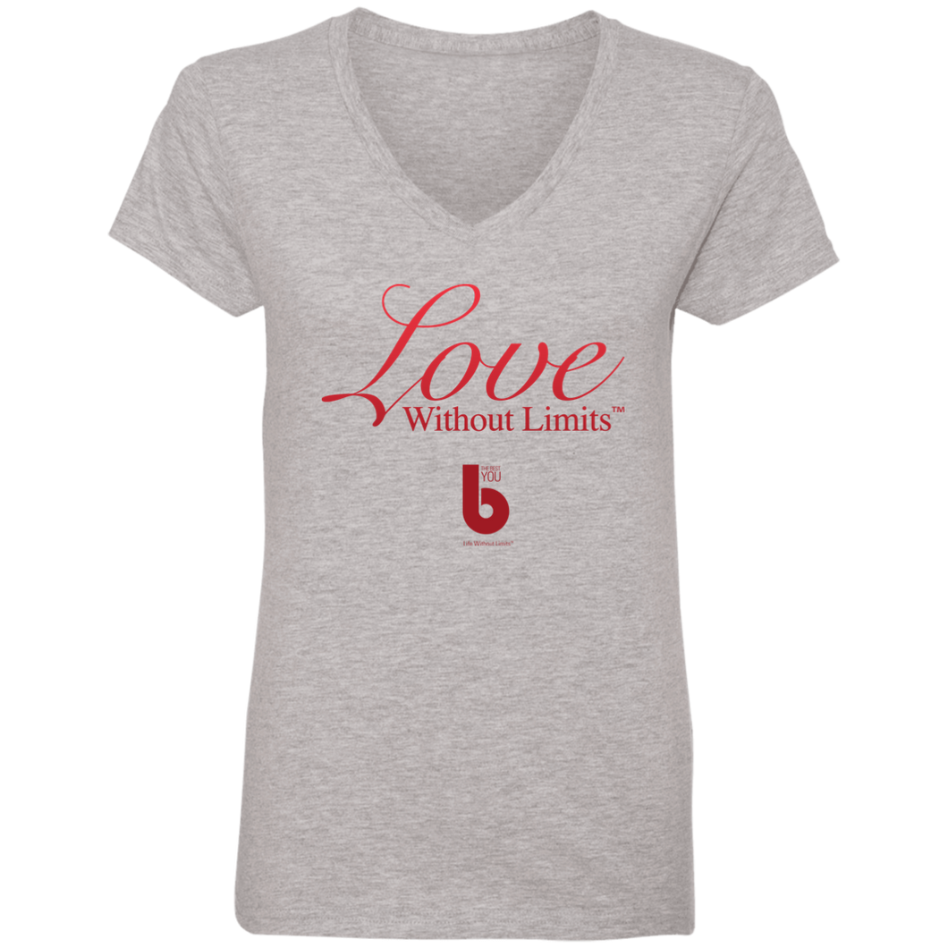Love Without Limits Ladies' V-Neck T-Shirt